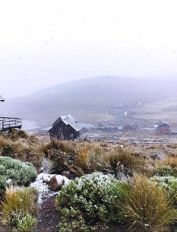 First snow of the year., Afriski Mountain Resort