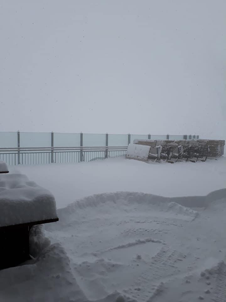 End of April snow., Hintertux