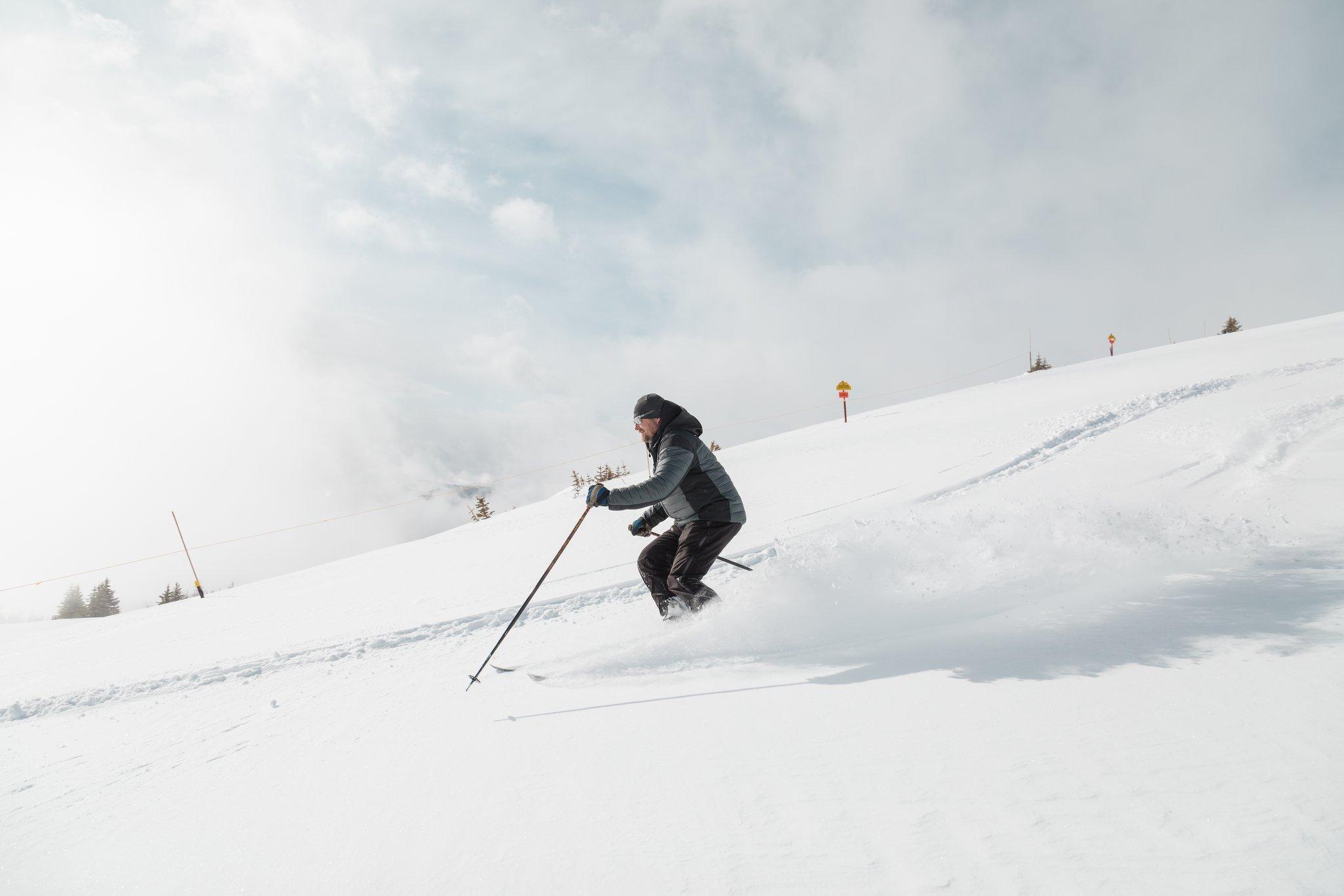 14cm of fresh snow., Marmot Basin