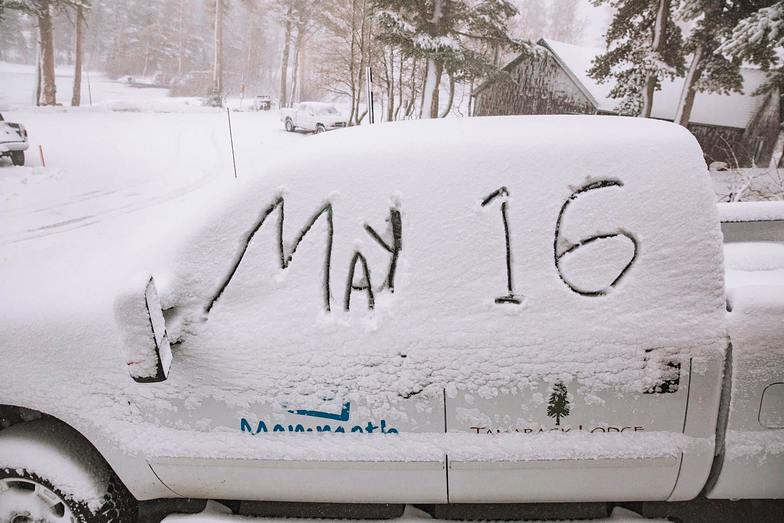 Runs open in to August., Mammoth Mountain