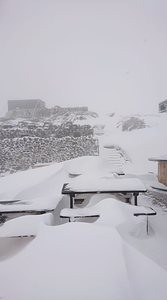 Temporary closure due to blizzard., Strynefjellet photo