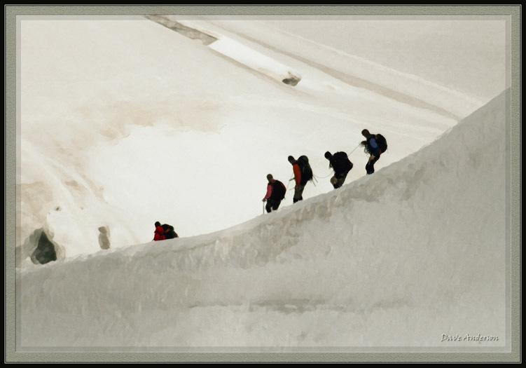 Mt. Blanc France - Trekking to the summit., Chamonix