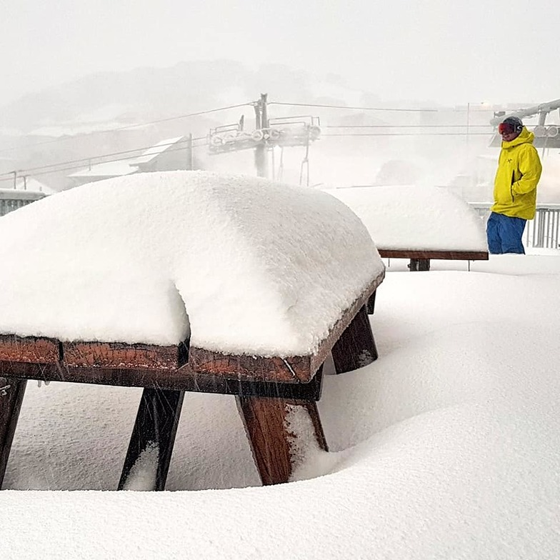 Reporting 87cm 48 hrs before opening for the season., Mount Hotham