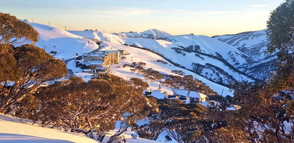 4th Australian ski area to open early for the season., Mount Hotham