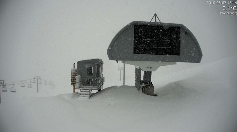 Heavy snow in June., Sunshine Village