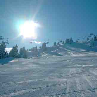 sun over chair lift, Mayrhofen