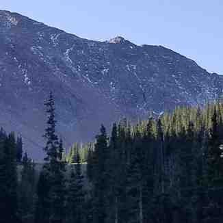 First snow seen high in the mountains., Arapahoe Basin