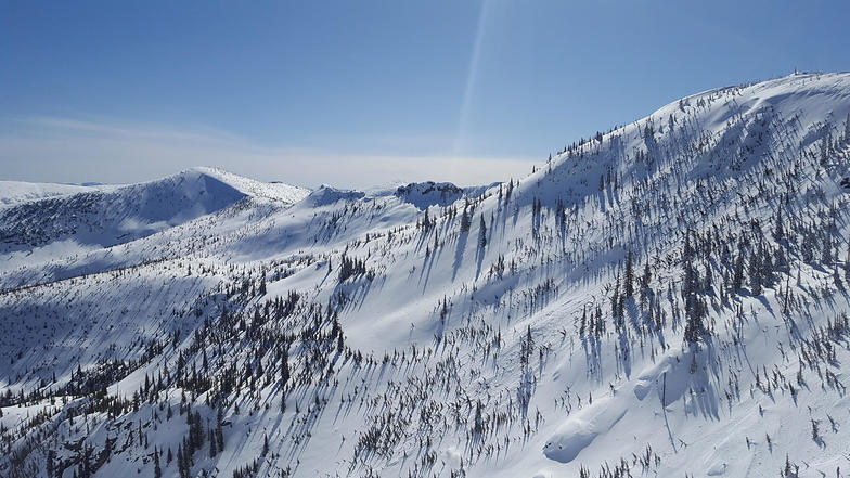 Helicopter and backcountry ski terrain, Selkirk Powder
