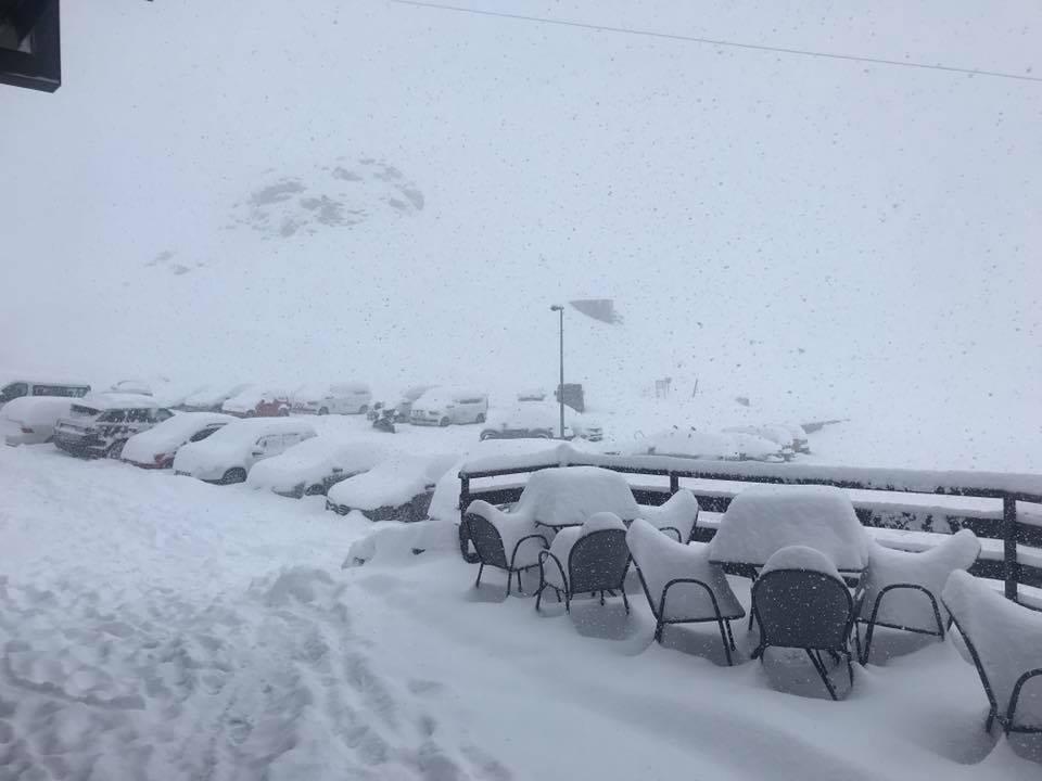 One of four glacier ski areas open this week in the Alps., Passo Stelvio