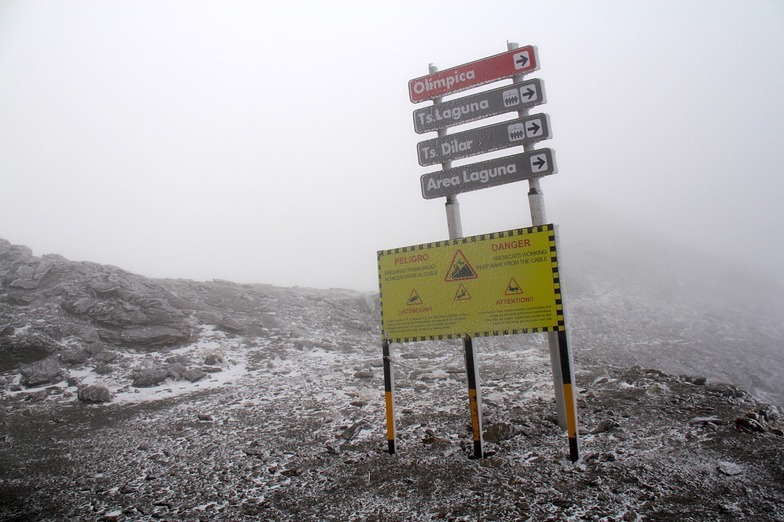 First snow at Europe's most southerly major resort, Sierra Nevada