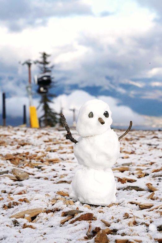First snow-man/woman of the season, Keystone