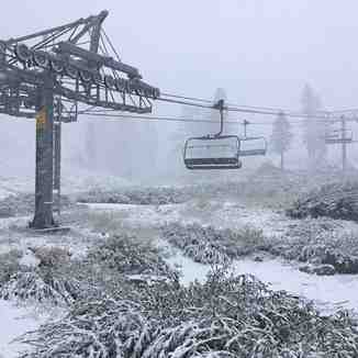 September snow, Squaw Valley