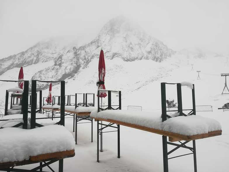 A little snow high in the Alps, Stubai Glacier