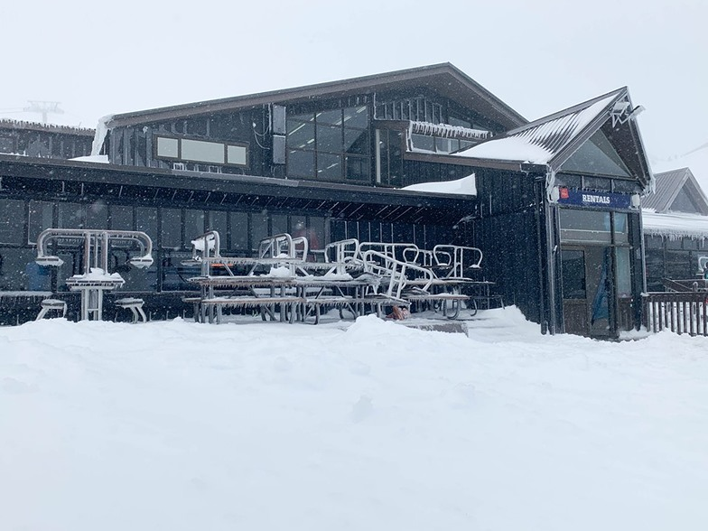 40cm at the lower mountain and 50cm at the top, Whakapapa