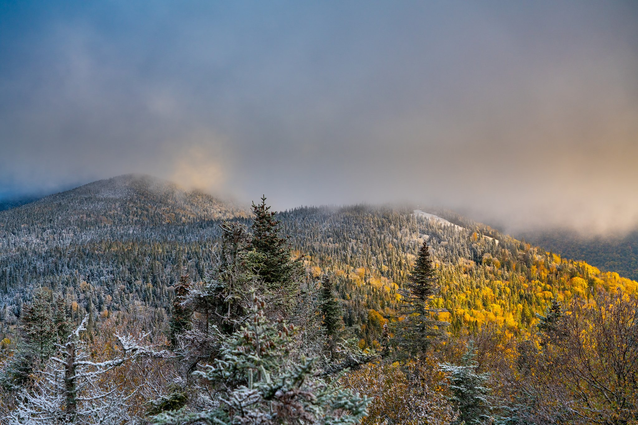 First snow, Mont Tremblant