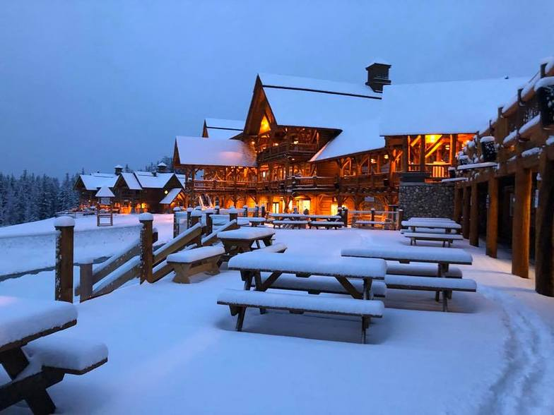 First snow in western Canada, Lake Louise