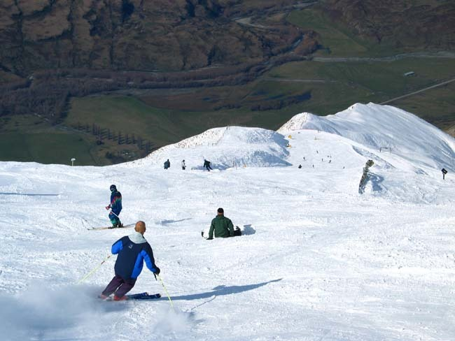 Treble Cone snow