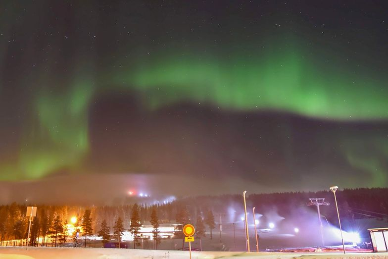 Already skiing in October with the northern lights brilliant overhead?, Levi