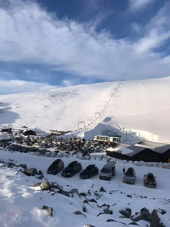 Final weekend of the 2019 spring-to-autumn ski season, Galdhøpiggen Sommerskisenter