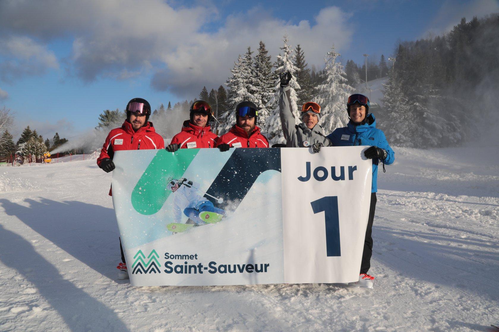 Start of the season, Mont Saint Sauveur