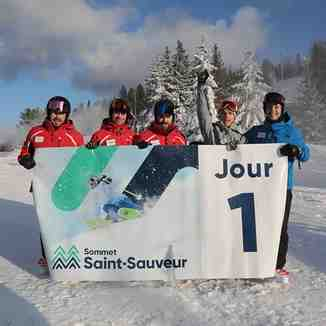 Start of the season, Mont Saint Sauveur