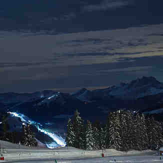Night view from the balcony, Avoriaz