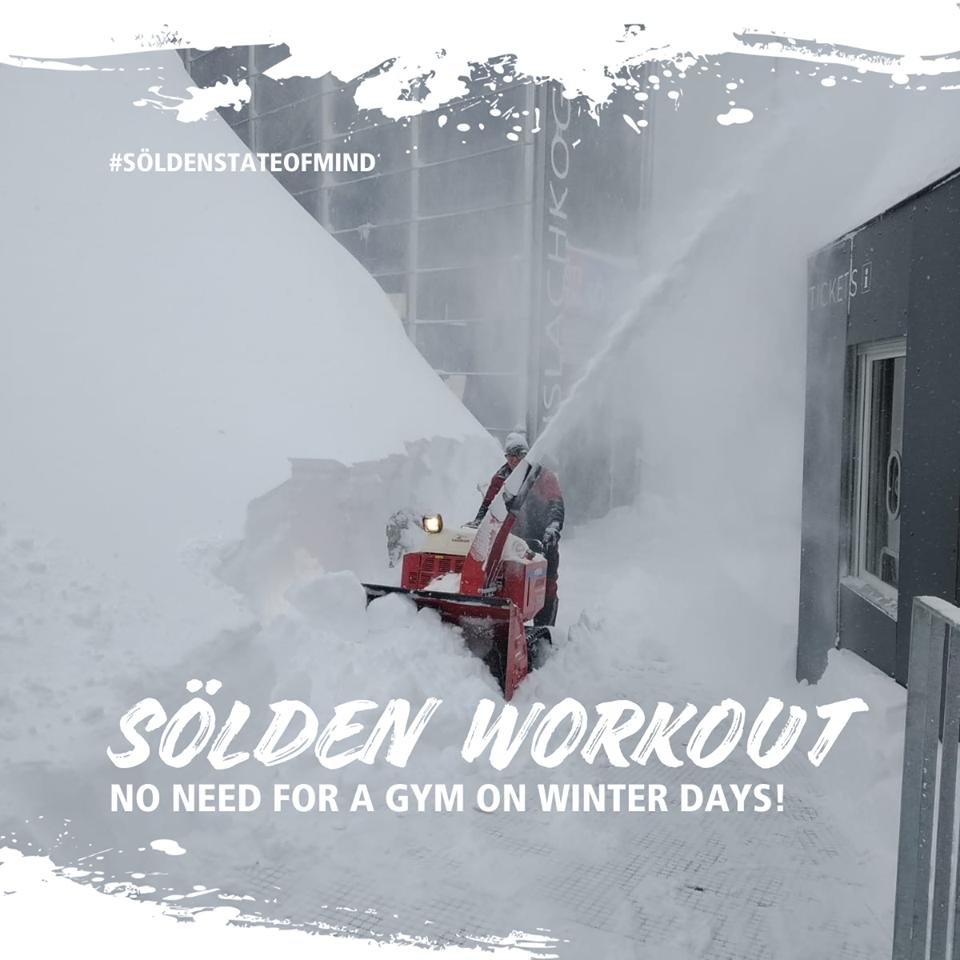 Huge snowfall in the Alps, Sölden