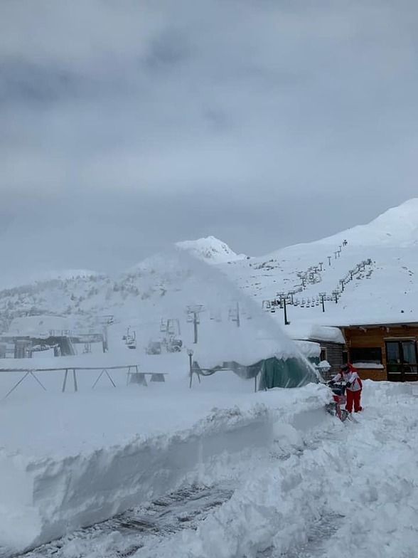 Huge snowfall in the Alps, Passo Tonale