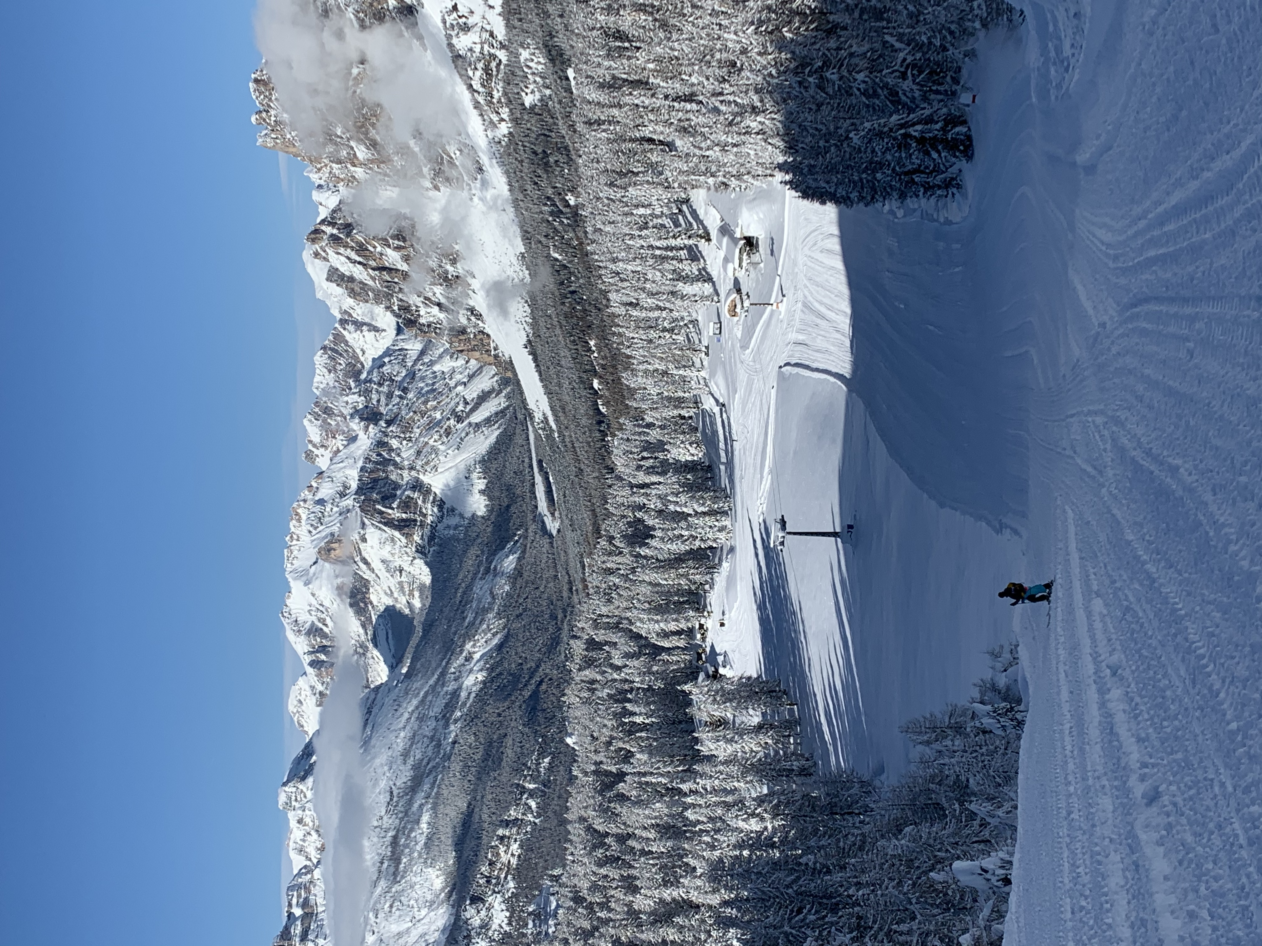 Col Gallina chair lift running.  Resort to open on the 30th., Cortina