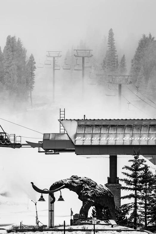 snow-making and natural snowfall, Mammoth Mountain