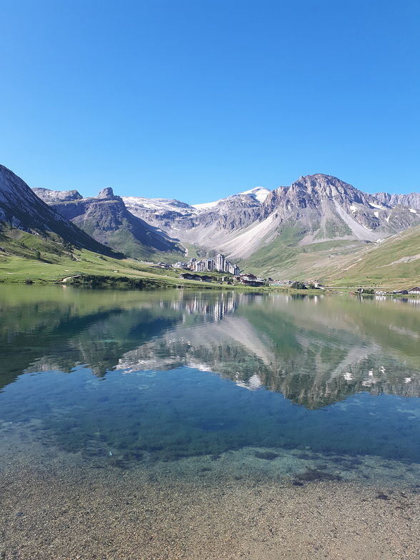 In the summertime, Tignes
