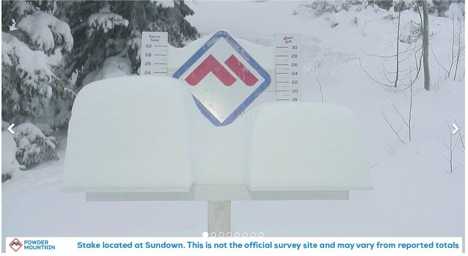 102cm (41 inches) of snowfall this week, Powder Mountain