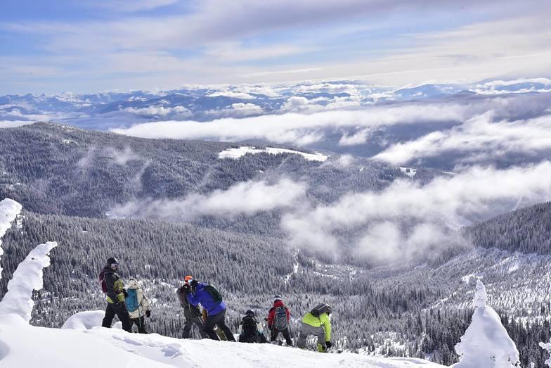 Group on ridge, Big Red Cats
