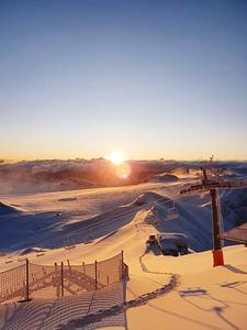Sunrise, Gstaad Glacier 3000 photo