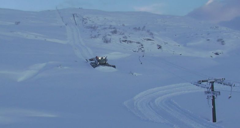 more than a metre of snow during the last week, Voss