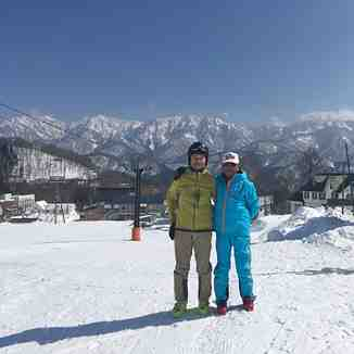 With my ski master, Hakuba Norikura