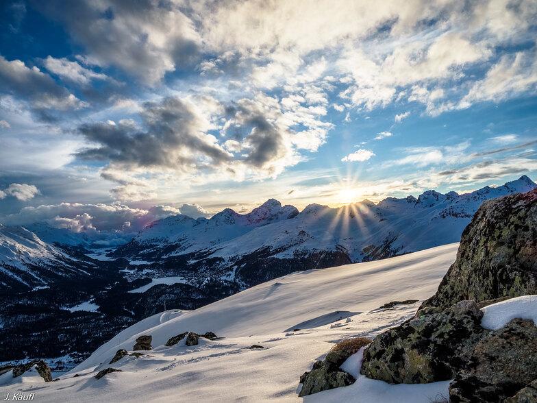 La Punt/Engadin snow