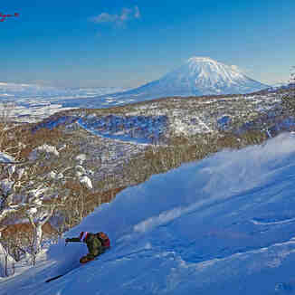 Deep Pow, With Mt Yotei watching over you!, Niseko Hanazono Resort