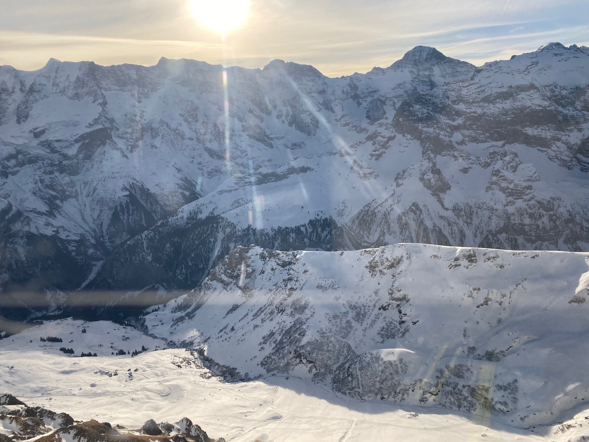 on the cable car to the schilthorn, Mürren