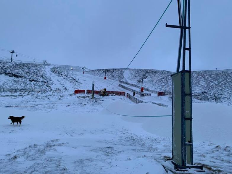 new snow but 75mph wind, Glenshee