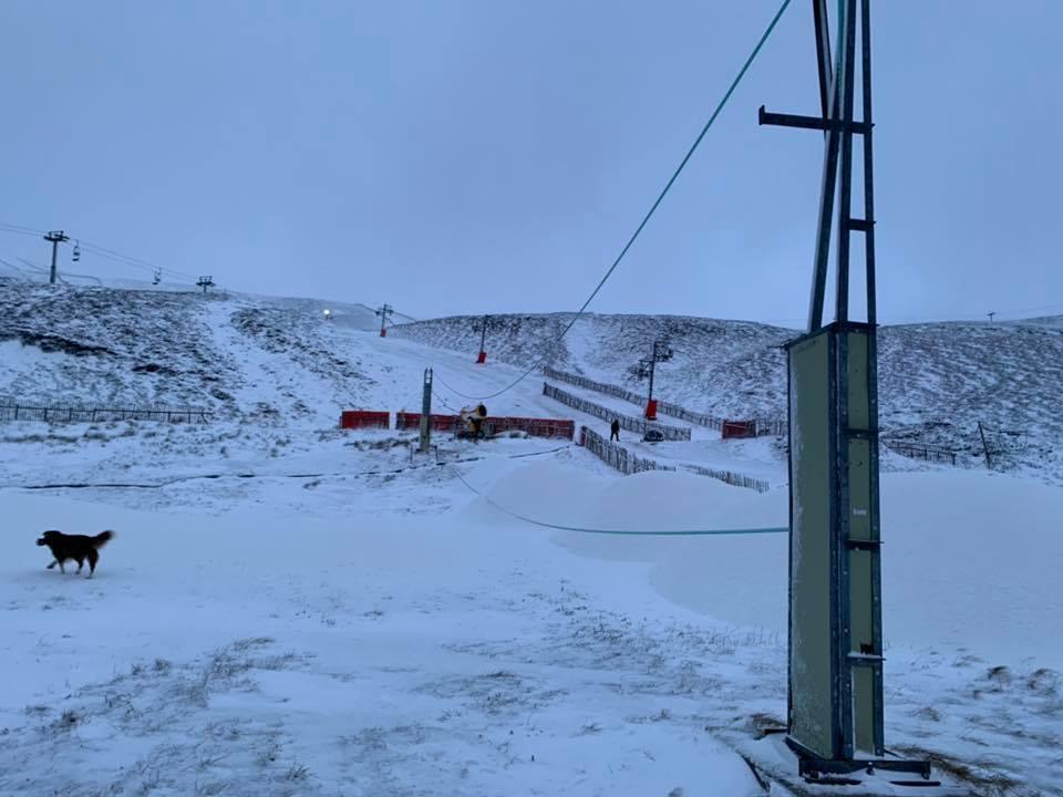 new snow but 75mph wind, Glenshee