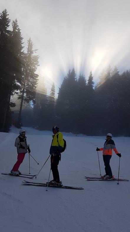 Fog lifting at last!, Samoens