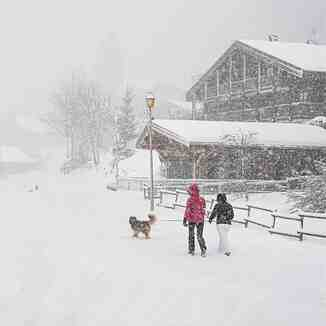 snowstorm in the Alps, Chatel