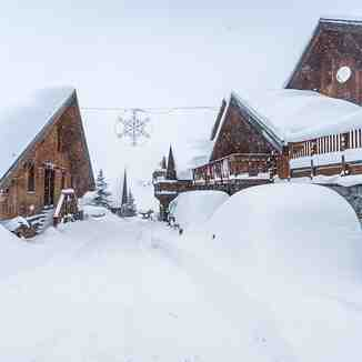 most snow since before Christmas, Les Menuires