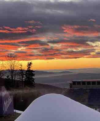 Zalazak sunca na Sljemenu