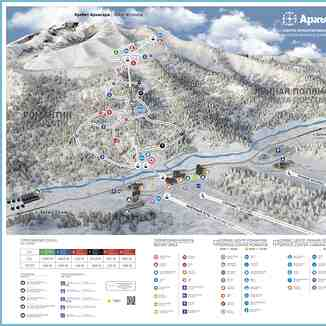 second part of ski area, Arkhyz