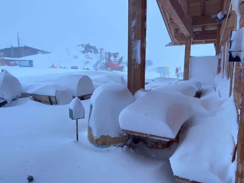 a storm that brought up to 2.1 metres (7ft) in the last week, Mayrhofen