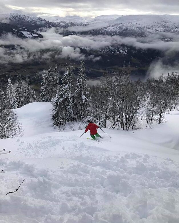 biggest snowfalls in Europe in the past week, Voss
