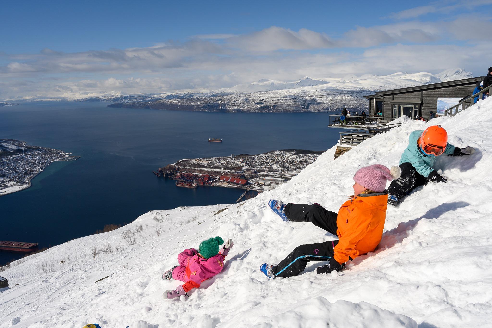Fun in the snow, Narvik