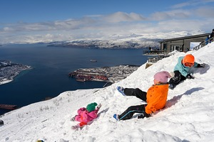Fun in the snow, Narvik photo